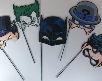 5 Super Hero Mask Batman/Villain