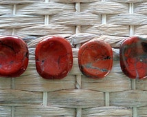 Red River Jasper Worry Stone - Palm Stone, Pocket Stone, Red Creek Jasper, Red Jasper, Protection Stone, Balancing Stone
