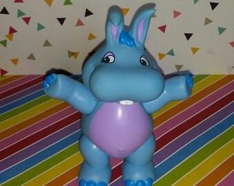 Vintage 1980s Hasbro Disney's Wuzzles Hoppopotamus PVC Figure