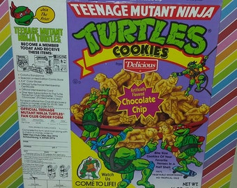 Vintage 1989 Teenage Mutant Ninja Turtles Cookie Box
