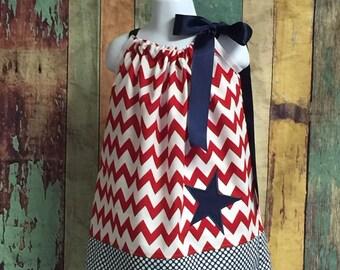 4th of July dress pillowcase dress, 4th of July dress