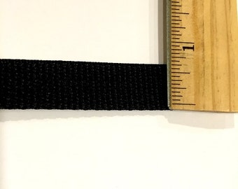Polypro Webbing - Black - 3/4 inch - 10 Yards