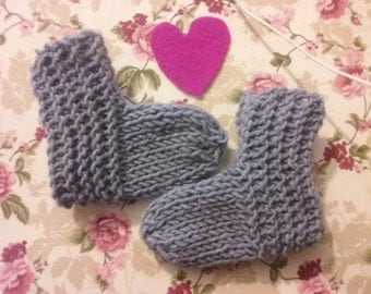 Baby booties choose color, baby socks, knited booties