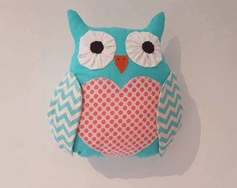 stuffed owls, owl cushion,toy owl,plush owl, nursery decor,