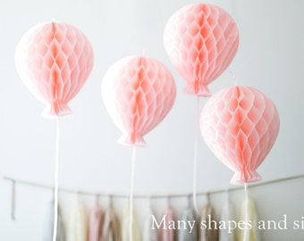 Tissue paper honeycombs - BALOONS - hanging decorations