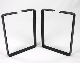 Set of 2 Bench Legs, Steel Legs, Industrial Table Legs, Metal Legs