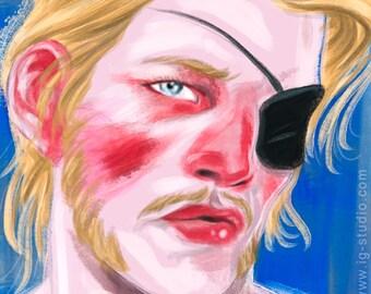 Blonde with eyepatch (signed prints) © Iván García.