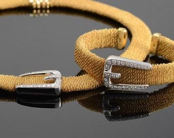 18K Mid-Century Italian Flex bracelet and necklace suite