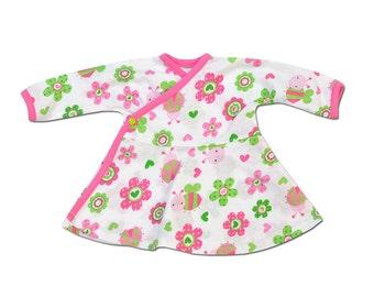 Perfectly Preemie Katie's Daisies Side Snap Dress