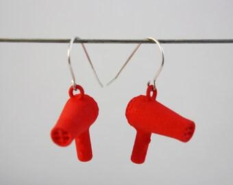 3D PRINTED Hair Dryer Earrings