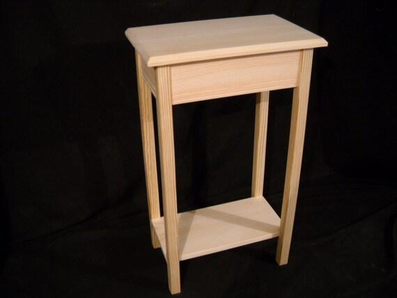 unfinished 24 console sofa 11deep beveled edge. Black Bedroom Furniture Sets. Home Design Ideas