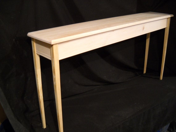 Unfinished 60 console sofa foyer 11deep beveled for 10 deep console table