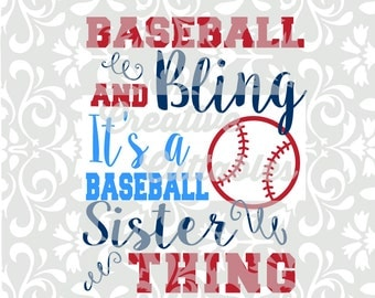 Baseball Sister SVG for  Silhouette or other craft cutters (.svg/.dxf/.eps)