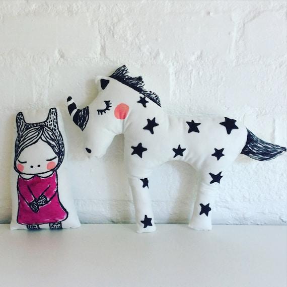 Decorative Princess Pillows : Unicorn and Princess Decorative Pillows by Poprikot on Etsy