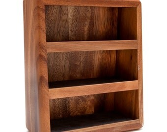 1990s -- 3-Tier Solid Wood Graduated Shelf Unit for Miniatures, Thimbles, or Other Treasures - by Red Envelope