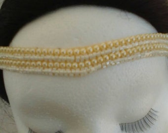 Wedding pearls headband