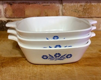 Vintage Corning Ware Blue Cornflower Petite Pan P-41