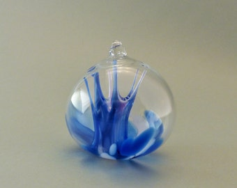 Blue and White Witch Ball