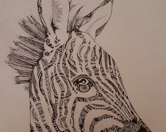 patterned baby zebra