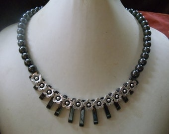 Hematite demagnetized Neclaces vintage ethnic