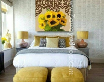 sunflowers art on canvas home decor wall art available in all sizes and styles