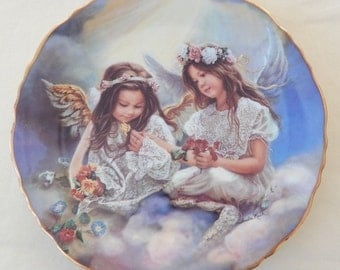 "Vintage Sandra Kuck ""Sharing Beauty"" 2nd plate in the Everlasting Friends Series"
