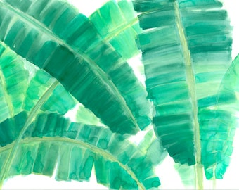 Banana Leaf Palms Print 1