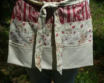 Handmade vintage half apron