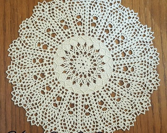 Cream Doily - Somewhat Small