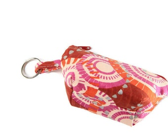 Small Zippered Coin Purse - Small Coin Purse Keychain - Unique Coin Purse - Fabric Key Ring - Thoughtful Gift - African Fabric Accessories