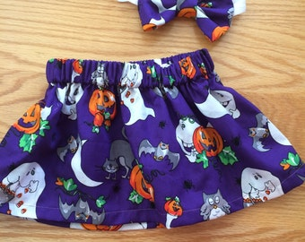 Halloween skirt set