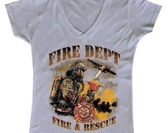 Fire Department - Ladies' V-Neck