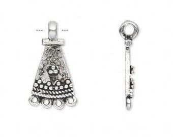 Silver Chandelier, Boho Chandelier, Gypsy, Exotic, 15x11mm, 2 each, D704
