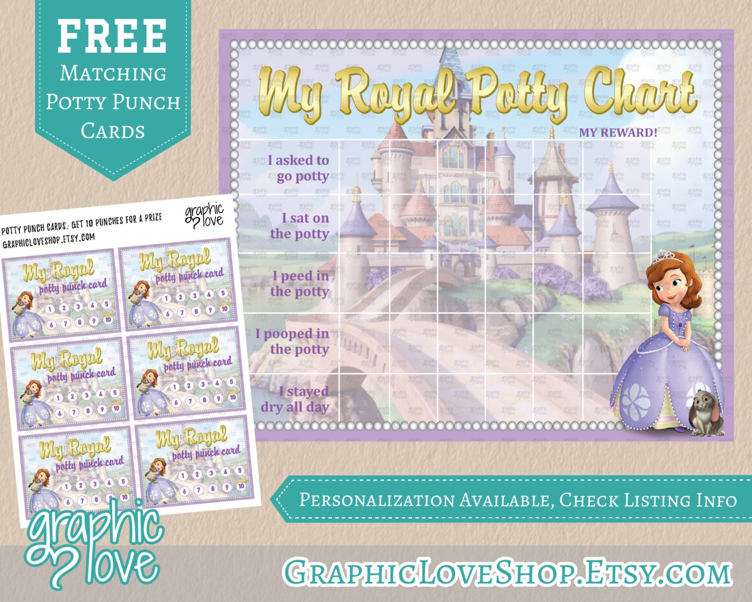 potty training charts graphic love shop printable sofia the first royal potty training chart punch cards high resolution jpg