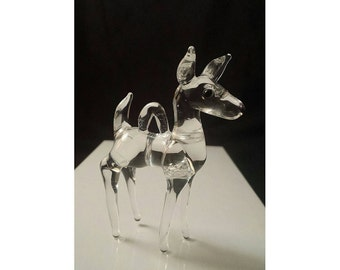 Glass Deer Ornament
