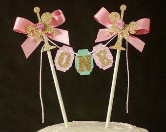 Carousel Cake topper, One Cake bunting, Smash cake, Carnival, Cake banner, First birthday cake