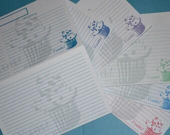 Yum! Cupcake Recipe Cards