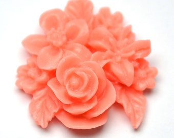 Pink Cluster Flower, Pack of 4