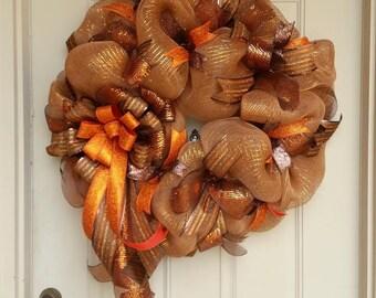 """30"""" Fall Wreath, Autumn Wreath, Thanksgiving Wreath"""