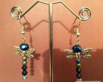 Dragonfly Beaded Standard Earrings