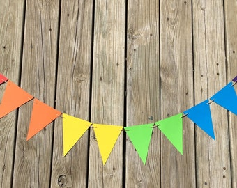Rainbow Pennants | Rainbow Garland | Rainbow Banner | Rainbow Decoration | Rainbow Decor