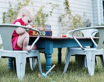 Reclaimed Barnwood Farmhouse Children's Play Table