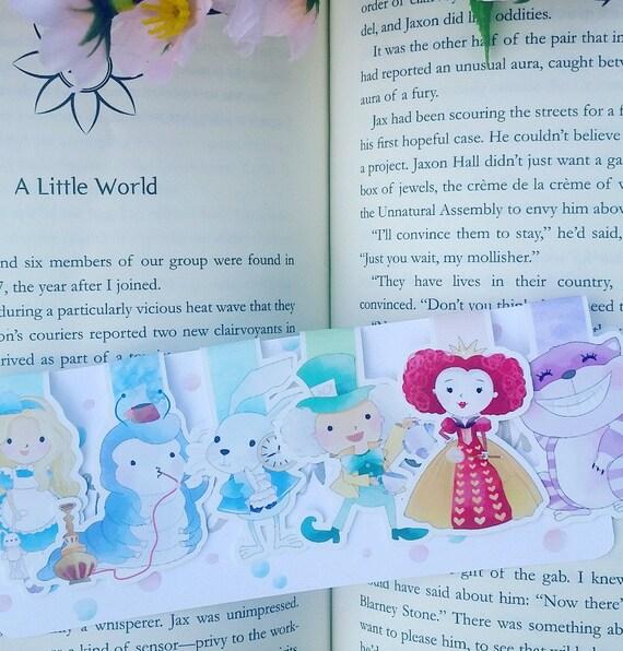 Wonderland Magnetic Bookmarks