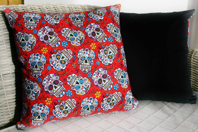 Day Of The Dead Cushion Sugar Skull Cushion by ...