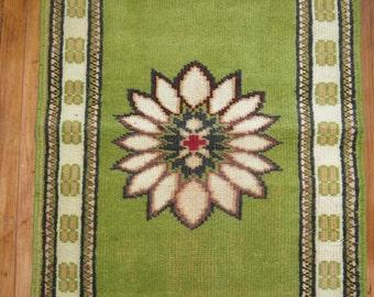 Vintage Turkish Konya Rug Size 2'4''x11'4''