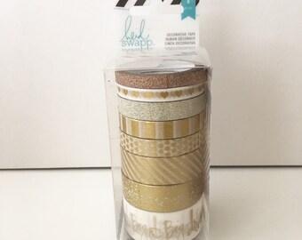 Heidi Swapp decorative 8x washi tapes gold set