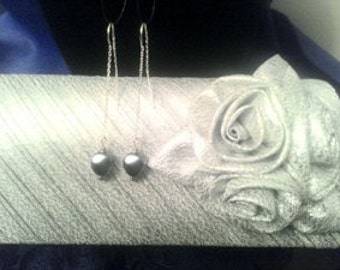 Grey Pearl Thread Earrings