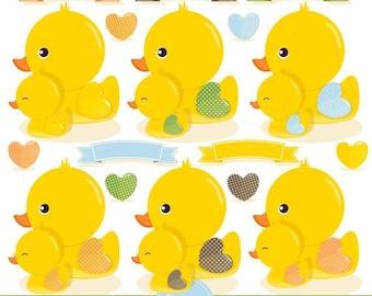 80% OFF SALE Rubber duck clipart, Rubber ducky, duck clipart, baby clipart, baby shower clipart, ducks clipart - CA309