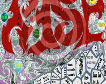 Rise- original art piece