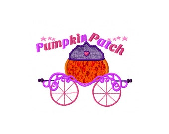 Pumpkin Patch, Pumpkin Princess, Fall Embroidery Design, Princess Applique Design, Pumpkin Fall Applique Design, Princess Applique